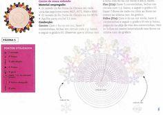 Centro de mesa em croche floral - CROCHE COM RECEITAS