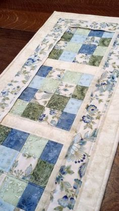 Quilted Table Runner floral table