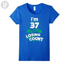 Womens 37th Birthday Gift Idea for Dad Funny 37 Years T-Shirt Small Royal Blue - Birthday shirts (*Amazon Partner-Link)