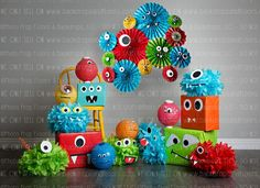 Colorful Monsters Themed Photography Backdrop, Birthday Party, Cake Smash, Paper, When placing order Little Monster Birthday, Monster 1st Birthdays, Monster Birthday Parties, First Birthday Parties, Birthday Party Themes, Boy Birthday, First Birthdays, Monster Birthday Cakes, Birthday Ideas