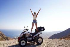 Santorini – Quad bike, Tess Montgomery