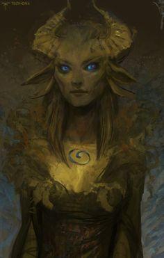 Foxy Fantasy Girl  by Sandra Duchiewicz