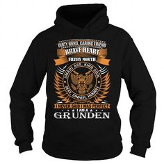 I Love GRUNDEN Last Name, Surname TShirt Shirts & Tees