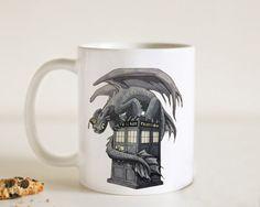 Toothless Tardis, Design Mug, Size 9.5cm x 8.2cm 11oz Mug