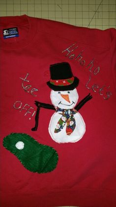Holiday  ugly Christmas sweatshirt, made  especially  for golf playing younger brother  ♡