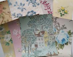 Antique Creme de la Creme Wallpaper Scrap Pack 8 x 10 Sheets Shabby Chic Paper, Floral Wall, Creme, Vintage World Maps, Scrap, Crafty, Antiques, Wallpaper, Unique Jewelry