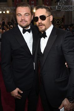 Leonardo DiCaprio & Tom Hardy | 88th Annual Academy Awards