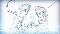 Jack Frost and Elsa The Snow Queen