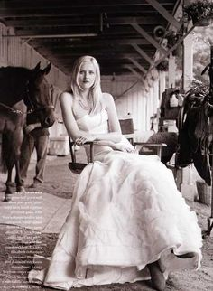 Wedding Dresses look better with horses. and such.