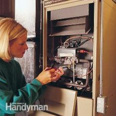 Keep your furnace running efficiently and safely and prevent the hassle of breakdowns with a few simple maintenance procedures. The entire maintenance operation takes less than three hours and costs only a few dollars. Furnace Maintenance, Dyi, Home Fix, Appliance Repair, Diy Home Repair, Home Repairs, Reno, Home Ownership, Heating And Cooling