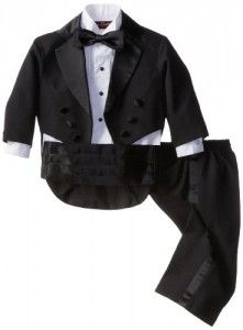 Joey Couture Baby-Boys Infant Tuxedo Suit Tail, Black, 6 Months/Small