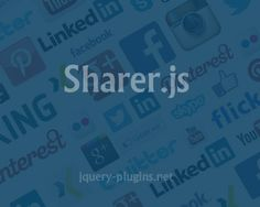 Sharer.js – Custom Social Share Elements with Javascript