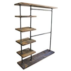 Kleiderstange Clothes Rack Bedroom Industrial Double Bar Clothing Rack Clothes Rack B Industrial Bedroom, Industrial Furniture, Industrial Closet, Pipe Closet, Standing Closet, Diy Clothes Rack, Clothes Rack Bedroom, Loft Clothes, Garment Racks