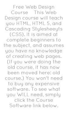 free web design course