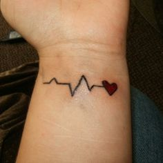 I love this idea!!! The heart would land right on the radial pulse! However I would fix the ECG stat!...it's just NOT accurate!