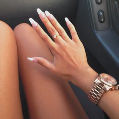 Ideas For American French Manicure Gel Nailart Manicure Gel, Gel French Manicure, Long French Tip Nails, Real Long Nails, French Tip Acrylic Nails, Love Nails, How To Do Nails, Pretty Nails, Style Hipster