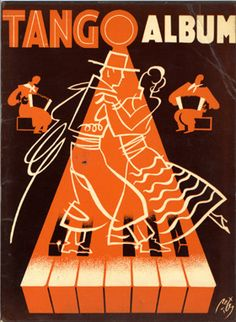 Illustrated Sheet Music by Peter De Greef, 1947, Tango album.