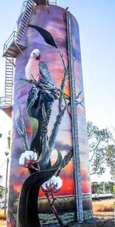 Murals Street Art, 3d Street Art, Art Mural, Street Art Graffiti, Art Optical, Barn Art, Building Art, Pop Art, Australian Art