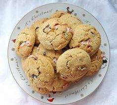 An easy to make Christmas cookie stuffed with candy canes and chocolate mint creams.