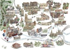 Illustrated Maps - Laura Hallett Art and Illustration