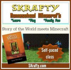 Story of the World Meets Minecraft!! Study History, History Class, Free Homeschool Curriculum, Homeschooling, Minecraft School, Story Of The World, School Fun, Social Studies, Interesting History