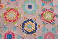 Stars in your eyes quilt WIP (close up)