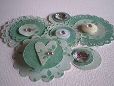handmade scrapbook embellishments - Google Search