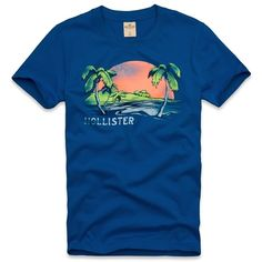 Hollister Co Seaside Reef T-Shirt ($18) via Polyvore