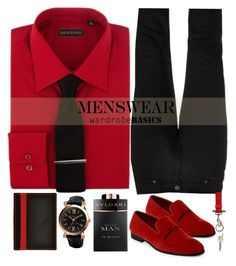 """Wardrobe BASICS: MENSWEAR"" by rasaj ❤ liked on Polyvore featuring Bulgari, Acne Studios, Alexander McQueen, Givenchy, men's fashion and menswear"