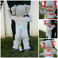 Well if that isn't just presh. Elephant Halloween costume!