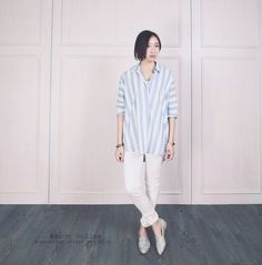 Blue with white