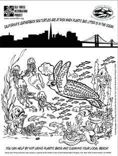 Sea Turtle Restoration Project : Kids' Coloring Pages Nemo Coloring Pages, Coloring Pages To Print, Coloring Pages For Kids, Turtle Tots, Snake Crafts, Marine Debris, Classroom Inspiration, Restoration, Sea Turtles