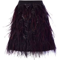 GABRIELLA FEATHER SKIRT (150 CAD) ❤ liked on Polyvore featuring skirts, bottoms, faldas, jupes, sparkle skirts, frilly skirt, purple ruffle skirt, purple skirt and purple sequin skirt