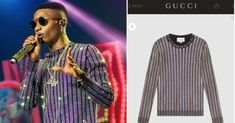 The cost of that shining long-sleeve Gucci top Wizkid wore for his concert which was held on the 24th of this month has been revealed.  The top shares a close resemblance to that of the late legendary musician Micheal Jackson the one he wore in one of his music videoRock With You in 1979.  Thorough market research have it that the top costs $3700 only which is about N1332000 in Naira.  Meanwhile the pant he wore alongside the top cost $990 and thats about N356400 in Naira.