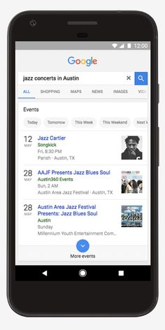 Google's new search feature allows you to look for events taking place in your city - http://www.newsandroid.info/2017/05/11/googles-new-search-feature-allows-you-to-look-for-events-taking-place-in-your-city/