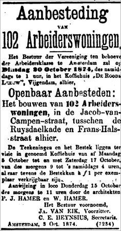 1852 Vereeniging ten behoeve der Arbeidersklasse - Canon Volkshuisvesting Nederland, Details