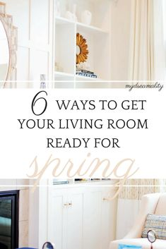 6 Ways To Get Your Living Room Ready for Spring Without Breaking the Bank! www.mydreamality.com