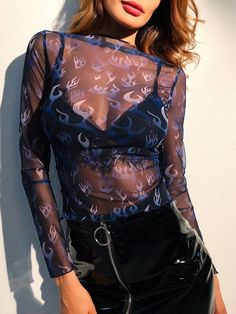 Long Sleeve Blouses. Top Decorated with Sheer. Designed with Boat Neck. Slim fit. Perfect choice for Sexy wear. Trend of Summer-2018. Designed in Navy. Fabric has some stretch.