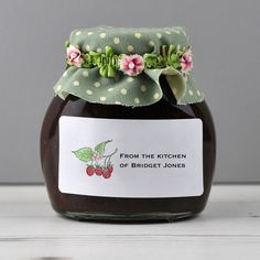 Rectangular personalised labels for your home produce