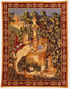 Point des Meurins Villesavin French Tapestry Art Wall Hanging Vintage with Rod. Great made in France wall tapestry. Ref x 72 cm approx by Comes with hanging rod. Unicorn Land, Unicorn Tapestries, Fairy Dust, Tapestry Wall Hanging, French Vintage, Art History, Needlepoint, Notre Dame, Bohemian Rug