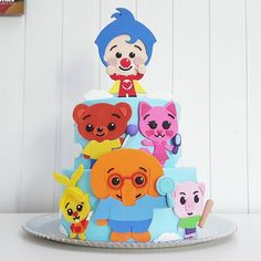 Happy Birthday Sam, Baby 1st Birthday, Circus Birthday, Circus Party, Birthday Cake, Daniel Tiger Party, Clown Cake, Elmo Party, Birthday Party Decorations