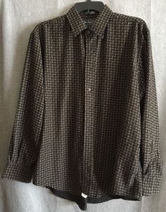 Burberrys of London Long Sleeve Button Front Shirt Men's Large | eBay