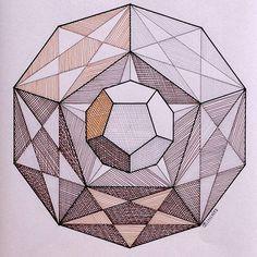 #polyhedra #geometry #symmetry #pattern #handmade #escher #mathart #mandala #solid #structure #pentagon