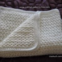 Easy Crochet V Stitch Crocheted Baby Afghan ~ Free Crochet Patterns and Designs by Lisa Auch