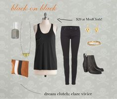 on the blog: a dream black on black outfit