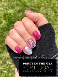 Color street party in the USA, port-ugal and peace love and tie dye. What is color street? Color street is nail polish strips. No heat or tools required! Nail Art Diy, Diy Nails, Beach Nail Art, Bright Summer Nails, Spring Nails, Diy Nail Designs, Art Designs, Color Street Nails, Nail Polish Colors