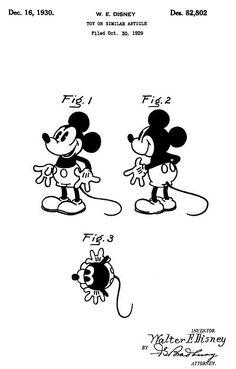Original Mickey Mouse Patent