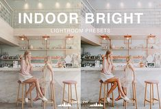 Indoor Bright Tones Lightroom Presets for Portrait, Wedding, Product, Outdoor, Studio, Newborn Filte