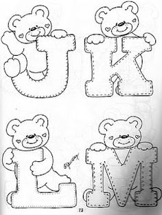 sweet little alphabet bears...