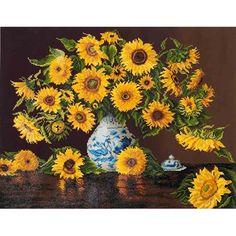 Needleart World Diamond Dotz Diamond Embroidery Facet Art Kit (Sunflowers) Canvas Frame, Canvas Wall Art, Sunflower Canvas, Sunflower Jewelry, Needlework Shops, Thing 1, 5d Diamond Painting, Art Deco Diamond, New Crafts